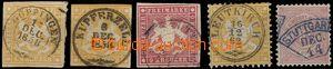 69072 - 1857-75 Mi.7, 12, 14, 22, 46, sestava 5ks známek, kat. 139�
