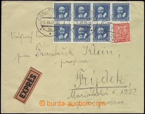 69074 - 1939 Ex letter franked with. parallel Czechosl. stamp. i.a.