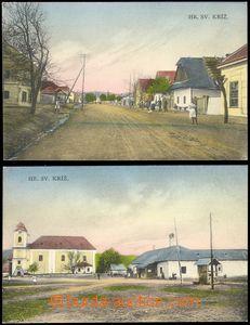 69125 - 1920? Žiar nad Hronom (Svatý Križ), kostel, ulice, 2ks ko