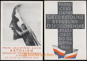 69131 - 1935 Congress katolíků Czechoslovakia, Prague 1935, 2 pcs
