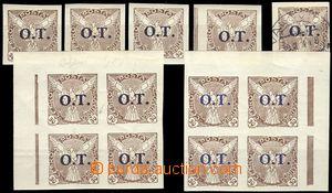 69137 - 1934 Pof.OT3, comp. 5 pcs of single stamps and 2 pcs of blok