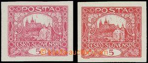 69187 -  ZT hodnoty 5h na křídovém papíru, 2ks, z toho 1x v čer