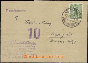 69194 - 1946 BERLIN UND BRANDENBURG  folded letter sent as printed m