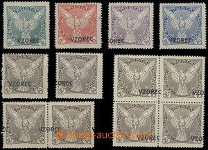 69195 - 1918 Pof.NV1, NV3- NV6, přetisk VZOREC, jednotlivé známky, h