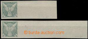 69201 - 1918 Pof.NV1, sestava 2ks známek s velkým pravým okrajem,