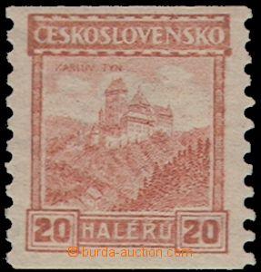 69579 - 1926 Pof.209A, Karlův Týn, coil-, P6, mint never hinged, e
