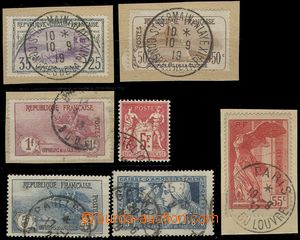69687 - 1917-37 comp. 7 pcs of better stamps, Mi.132-4, 176, 214, 22