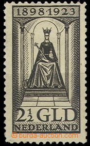 69689 - 1923 Mi.132, 25 years reign, label, otherwise nice quality,