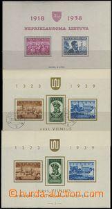 69701 - 1939-40 Mi.427-428 (Block 1A**), Mi.446-448 (Block 2) 2x, z
