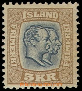 69714 - 1907 Mi.62 Christian and Frederik, highest value, very  ligh