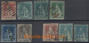 69743 - 1851-55 comp. 9 pcs of stamps Lion, more closely nespecifiko