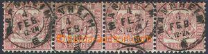 70149 - 1862 Mi.18, 4-páska, pěkné DR Mannheim kat. 1000€
