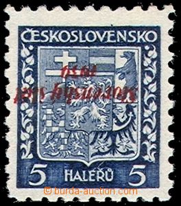 70214 - 1939 Alb.2 Pp, inverted overprint, 5h Coat of arms, stamp. K