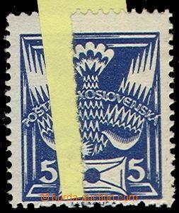 70237 -  Pof.143, 5h modrá, nastavovaný papír