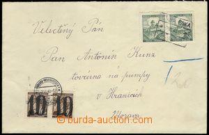 70325 - 1940 Hranické doplatní provizorium na nedostatečně vypla