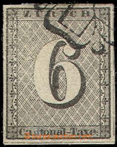 70442 - 1843 ZURICH  Mi.2, c.v.. 1500€, wide margins