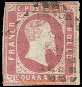 70446 - 1851 Mi.3, on reverse various marks, c.v.. 4000€