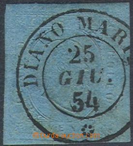 70453 - 1853 Mi.5, c.v.. 120€, nice postmark DIANO MARINA/ 25/GIU.