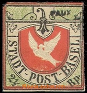 70456 -  BASEL  overall forgery stamp. Mi.1, Fournierův print, mark