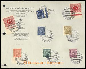 70722 - 1931 special postmark Slavonic scout camps, 8 copy-print on