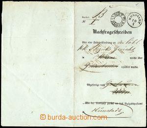 70983 - 1840 tištěný formulář A5 Nachfrageschreiben s DR KUNSTADT/ 1