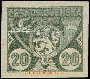 71132 - 1920 Nepřijatý design from 1. competition, 20 h, green HT,