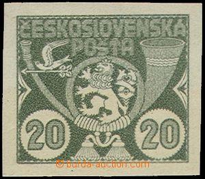 71132 - 1920 Nepřijatý návrh z 1. soutěže, 20 hal, zelená HT,