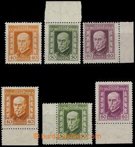 71139 - 1925 Pof.187-189A + B, Neotypie (gravure-print), various pos