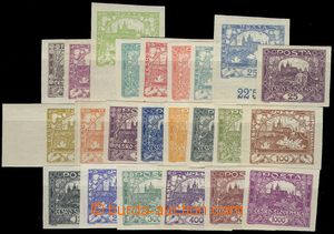 71146 -  Pof.1-26, without 6,9 and 13, imperforated, complete set, w