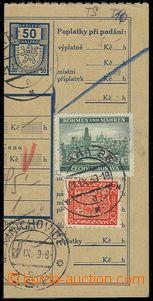 71358 - 1939 Maxa T13, ústřižek balíkové průvodky se smíšeno
