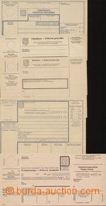 71362 - 1940 sestava 5ks různých poštovních formulářů, 1) COF