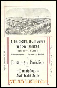 71397 - 1880 INDUSTRY  advertising print firm Drátovny Deichsel - V