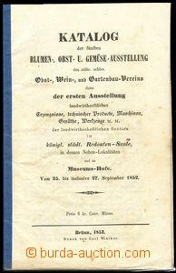 71398 - 1852 EXHIBITIONS  advertising catalogue 5. exhibition fruit
