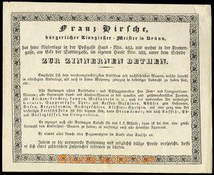 71412 - 1840 heading letter, firm Franz Kirsche Brno (cínové wares