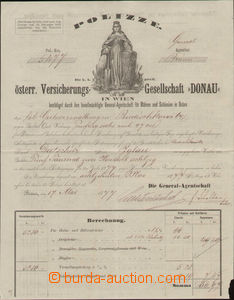 71413 - 1877 AUSTRIA-HUNGARY  on both sides insurance form Donau, br