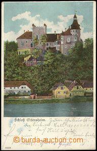 71425 - 1906 Ottensheim - pohled přes řeku, hrad; DA, prošlá, odřené