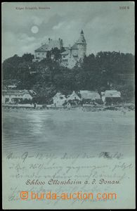 71428 - 1899 Ottensheim - view over river, castle, green shade; long