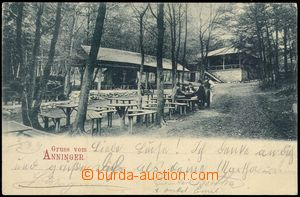 71432 - 1899 Anninger - open-air restaurant, people; long address, U