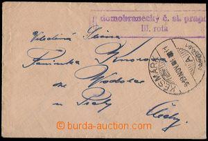 71465 - 1919 decorative small envelope sent from Kežmarok to Prague