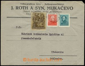 71467 - 1939 letter from occupation Carpathian Ruthenia, franked Hun