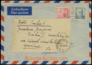 71471 - 1948 CZECHOSLOVAKIA 1945-92  entire with Pof.424 and L17, ma
