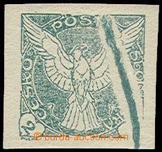 71485 - 1918 Pof.NV1, 2h zelená, mimořádně velká tisková vada, hezký