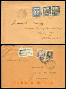 71506 - 1931 comp. 2 pcs of letters from Libye to Czech Republic, 1x