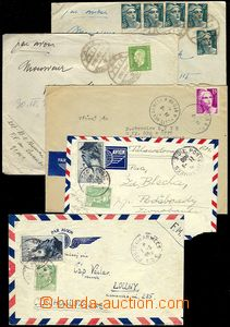 71512 - 1946-50 FRANCE  comp. 5 pcs of letters from members alien le