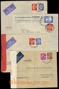 71514 - 1948-50 comp. 4 pcs of air-mail letters from Israele to Czec