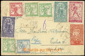 71515 - 1920 card sent as Registered from Zagreb to Czechoslovakia,