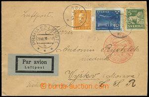 71518 - 1933 Let-dopis do ČSR, vyfr. zn. Mi.175, 183 a 213, kašet Lu