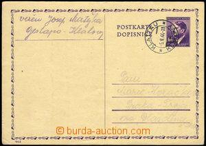 71588 - 1944 GESTAPO KLATOVY  korespondenční lístek Pof.CDV16 , o