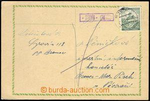 71593 - 1940 ČaM  poštovna SYROVÍN (Bzenec), kat. Geb.1304/4, lí