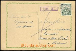 71593 - 1940 BOHEMIA-MORAVIA  postal-agency SYROVÍN (Bzenec), c.v..